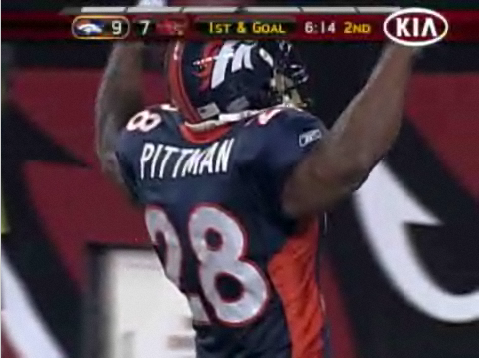 Michael Pittman Celebrates After A TD