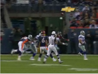 Jay Cutler Throws A Diving TD Pass To Brandon Marshall
