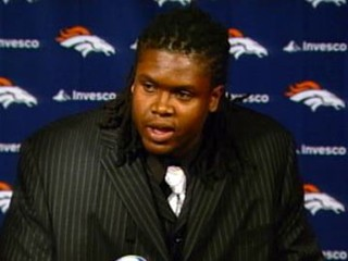 Ryan Clady at a Press Conference