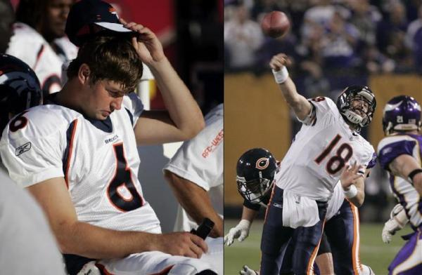 Jay Cutler and Kyle Orton trade places